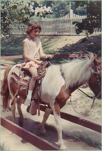 Jane riding, not writing. Copyright 1969 by Barbara Lindskold. All rights reserved.